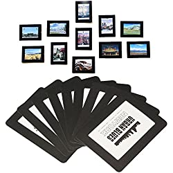 """Cornici magnetiche per fotocamere e magneti per frigoriferi, telaio a tasca per frigorifero, bianco, nero, 4x6 3,5x5 2,5x3,5 (6 """"5"""" 3,5 """"foto, 15 pezzi)"""