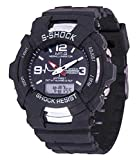 #8: BLUE DIAMOND Analogue+ DIGITAL black dial watch for kids and boys