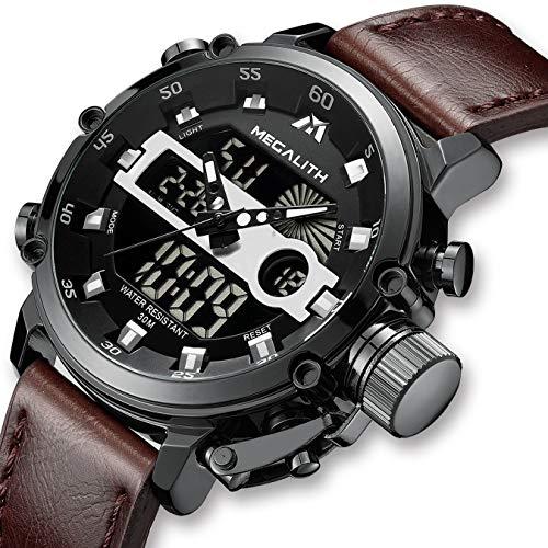 Herren Uhren Herren Militär Digital Wasserdicht Sportuhr Alarm LED Digital Uhr mit Stoppuhr Männlich Multifunktion Beiläufig Armbanduhr für Männer mit Schwarz Dial