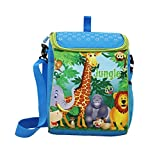#9: Stuff Jam Jungle Animal Featured Box Shaped 2 In 1 Bag-Pack Cum Sling Bag