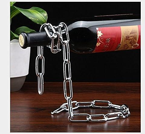 GUFAN Porte-bouteille de Vin Magique (Argent)