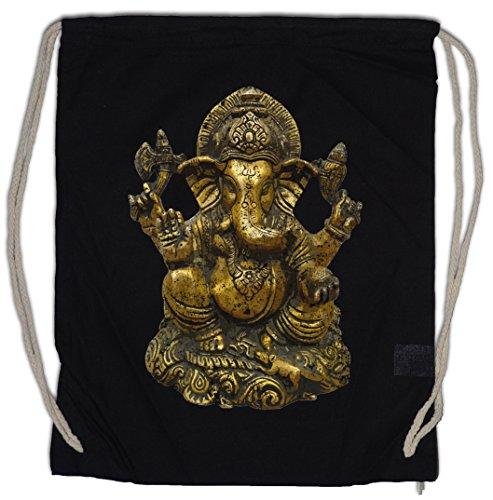 Urban Backwoods Ganesha Vintage Turnbeutel Sporttasche Buddhismus Hinduismus Hindu Yoga Buddha India Shirt