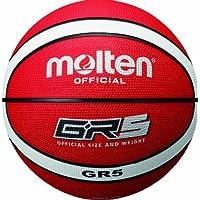 MOLTEN Basketball Bgr5-RW - Pelota de baloncesto, color rojo/blanco, talla 5
