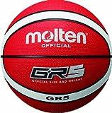 molten Basketball Bgr5-RW, Rot/Weiß, 5