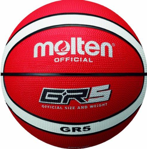 Molten Basketball, Rot/Weiß, Größe 5, BGR5-RW