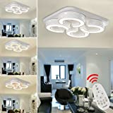 VINGO® LED Ceiling Light Wall light living lighting Lamp Modern cold white for Bedroom,Living room,Hallway,Dining Room,Corridor.Hight Quality Not harm the eyes (White Shell 48W Dimmable)