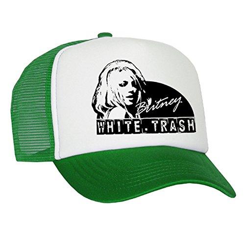 Bastart Caps Raphia Art White Trash - Casquette en maille Britney/Green