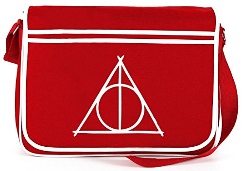 Shirtstreet24, Harry Triangle, Retro Messenger Bag Kuriertasche Umhängetasche Rot