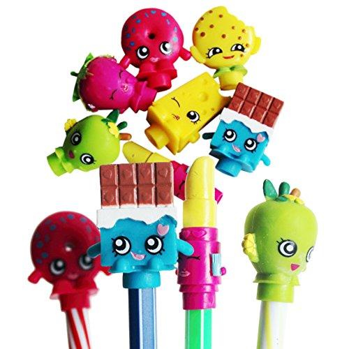 LOT de 4 figurines Shopkins embouts pour stylo crayon feutre ...