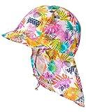maximo Schildmütze Nackenschutz Safari Bindeband, Bonnet Bébé Fille, Multicolore (keramik-Cherry-Tiere 33), 49