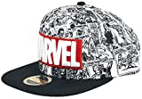 Marvel Comics Logo And Comic Pattern Snapback Baseball cap, Cappellino Unisex-Adulto, Grey, Etichettalia Unica