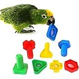 bwogue 4pcs gran tornillos y tuercas pájaro juguete partes loros loros cacatúas