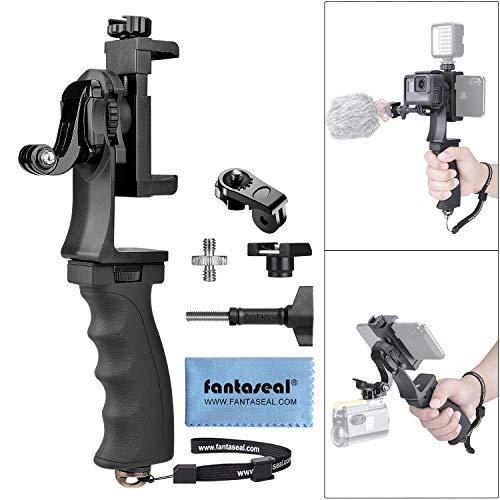Livestream Vlog Rig Videocamera 2 1 portatile e kit video cellulare impugnatura ergonomica stabilizzatore per videocamera supporto per GoPro Sony DJI