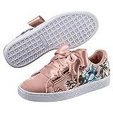 Puma Basket Heart Hyper Embroidery Damen Sneaker Peach Beige 6.5