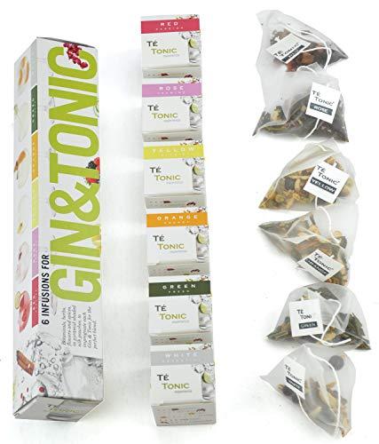 Gin Tonic infusions Aroma Beuteln Botanicals Geschenk -6 Aromen zum Verfeinern Ihres Gin. 100{46b133fac9cfd4404713d977ae2f6665b91f46d442d64c2a5a05699a59ace5ac} natürliche Gewürze, Kräuter ,Blumen machen Ihren Cocktail