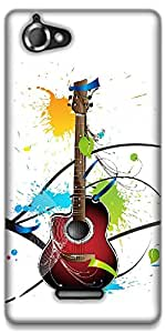 The Racoon Lean Colours Of Guitar hard plastic printed back case / cover for Sony Xperia L
