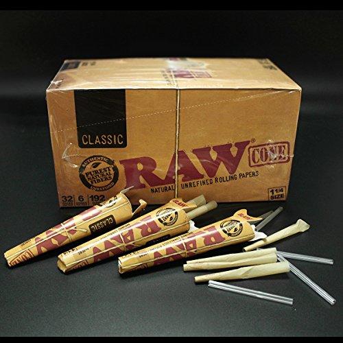 Raw King Size Pre Rollrand Räucherkegel Klassische roh Pre Rolled Rolling Paper Cone Classic Mega Pack 32Cones x 78mm