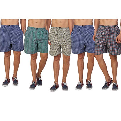 PSK Checkered Man's Boxer (Pack of 5) XL