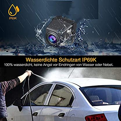 Rckfahrkamera-Rckfahrkamera-Nummernschild-Ersatzkamera-Ip69k-Wasserdicht-fr-LKW-Griff-Ford-Mondeo-2017-2018