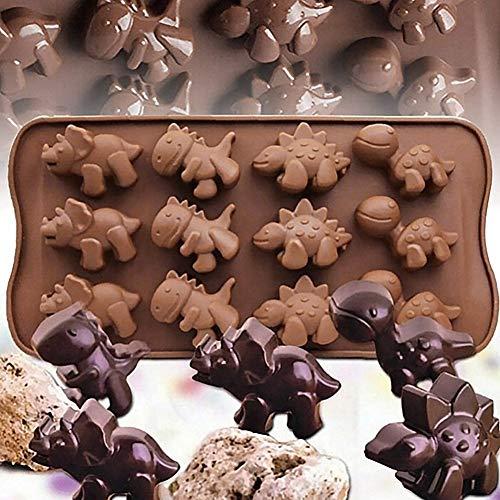 Silikonform für Kuchen, Dinosaurier-Design, Fondant, Schokolade, Dekoration, Backwerkzeug multi