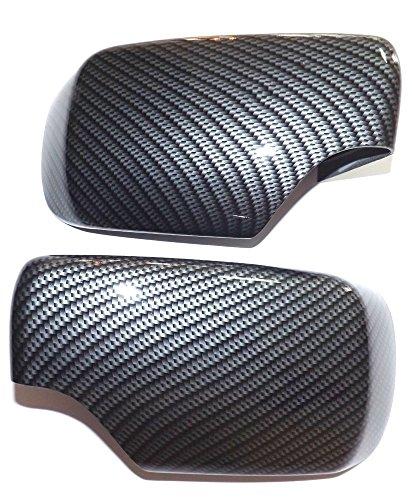 Spiegelkappen set wassertransferdruck aspect carbone pour bMW série 3 e46 e 46 cm