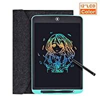 Tyhbelle LCD Writing Tablet, 12 Inch Colorful Digital ewriter Electronic Graphics Tablet Memory Lock Portable Writing Board Handwriting Pad Drawing Tablet for Kids Home School Office