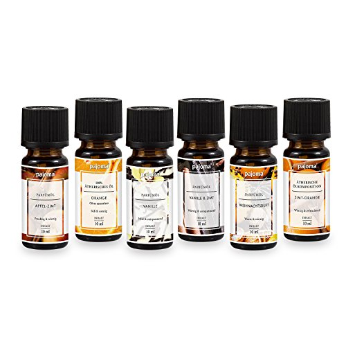 pajoma Duftöle 6er Set Duftölset (Weihnachten) - Granatapfel-parfüm Öl