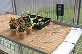 Bio Green Aufzuchtartikel Silikon Bodenheizkabel, weiß, 6.0m, 50 W