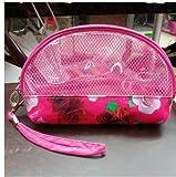 Turboxrossing® - Korea Cute Pure Color Multifunctional Waterproof Cosmetic Bag, Storage Bag - Flower Rose