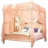 ZAQXSW Prinzessin Fantasie mesh Vorhang Dekoration hängen Spitze Baldachin zu Spielen doppelbett Zelt moskitonetz (rosa) (Size : 185 X 200 X 195cm)