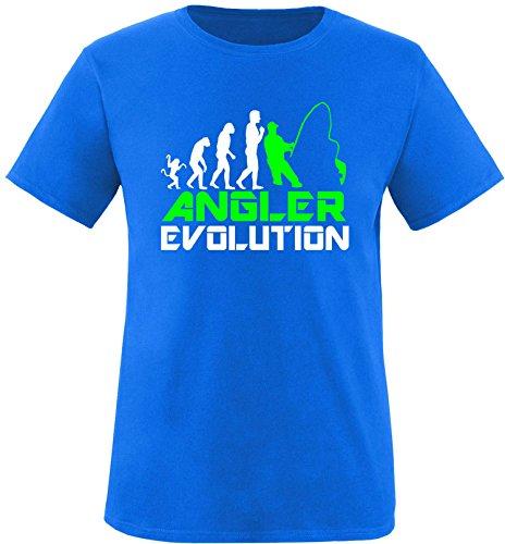 EZYshirt® Angler Evolution Herren Rundhals T-Shirt Royal/Weiss/Neongr