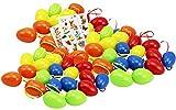 com-four® 60 Ostereier in 5 unterschiedlichen Farben