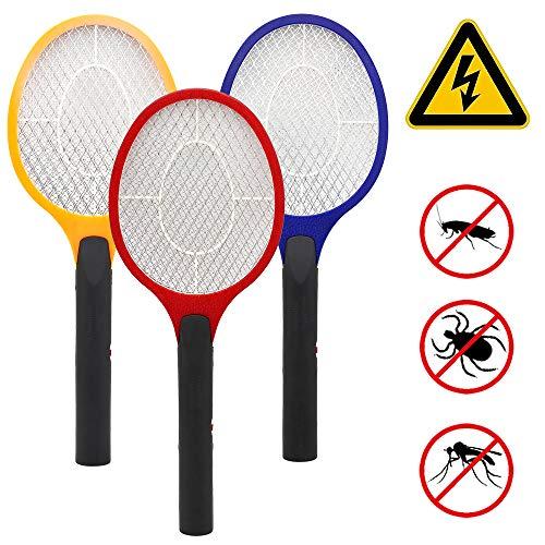 wolketon 3X Raqueta Caza Mosquitos eléctrica Raqueta Matamoscas Mata Mosquitos Moscas y Insectos matamoscas Eléctrico Adecuado para Bajo Techo y Al Aire Libre Raqueta del Mosquito
