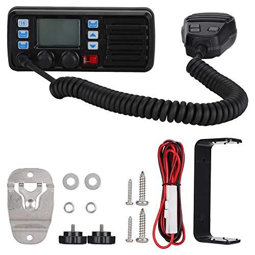 Lazmin Mobiles UKW-Seefunkgerät, DSC-Anruf Auto-Answer-Anzeige mit großem Bildschirm Wetterkanal Externer GPS-Empfänger