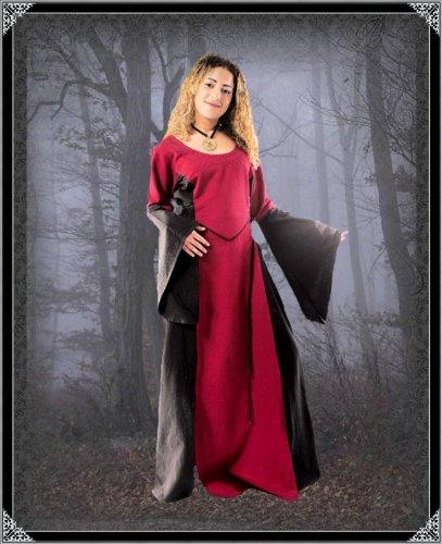 Bäres Vampire - Damen Langes Gothic Kleid Eladriel Bordeaux ...