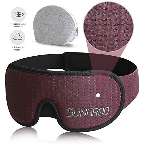 Traditionelle Memory-schaum (Xiaoyi Schlafmaske, 100% lichtblockierend, 3D-konturierte Augenmaske zum Schlafen mit atmungsaktivem Memory-Schaum für Reisen/Nickerchen, rutschfester verstellbarer Riemen für Herren/Damen/Kinder)