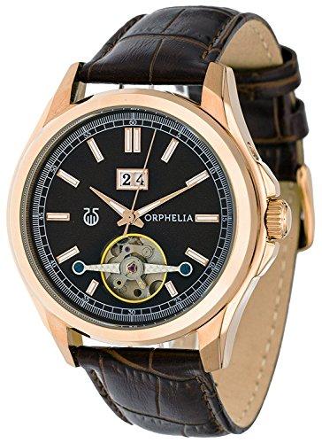 Orphelia - OR55670633 - Montre Homme - Automatique - Analogique - Aiguilles lumineuses - Bracelet Similicuir Marron