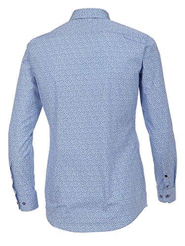 Venti Herren Businesshemd 172667700 Easy Care 100% Baumwolle - Body Fit Blau