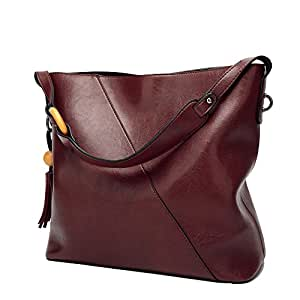 900517e806 ... Obosoyo Women Shoulder Tote Satchel Bag Lady Messenger Purse Top Handle  Hobo