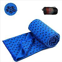 Preisvergleich für BAIVIT Yoga-Handtuch Mikrofaser Anti-Rutsch-Punkt Kunststoff-Mesh-Tasche Pilates Yoga-Matte Abdeckung Handtuch Decke Sport Fitness 183X63cm