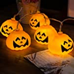 20 Battery Operated LED Smile Pumpkin...