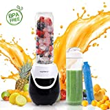 Aigostar Blackberry 30JDH - 600W Mini blender mixeur portable avec un tube...