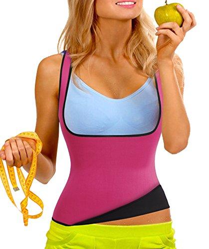 Hot Thermo Schweiß Neopren Shapers Slimming Gürtel Taillenmieder Girdle für Gewicht Loss (S Fit 34-38, Rosa)