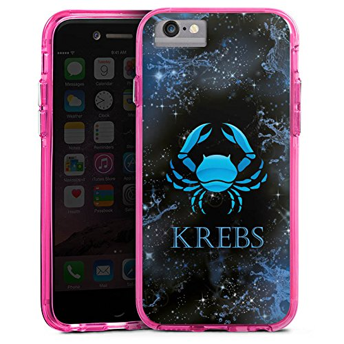 Apple iPhone 6 Plus Bumper Hülle Bumper Case Glitzer Hülle Krebs Sternzeichen Astrologie Bumper Case transparent pink
