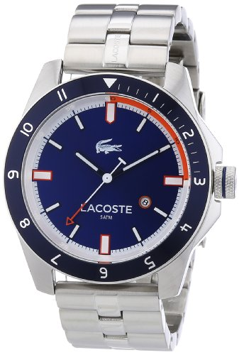 Lacoste 2010701 - Reloj analógico de Cuarzo para Hombre, Correa de Acero Inoxidable Color Plateado