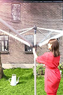 Brabantia Essential Rotary Washing Line Airer with Concrete Anchor Tube, 50 m - Silver (B0002EXYNE) | Amazon price tracker / tracking, Amazon price history charts, Amazon price watches, Amazon price drop alerts