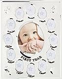 Abrazos y más bebé primer año marco de fotos regalo (plata)