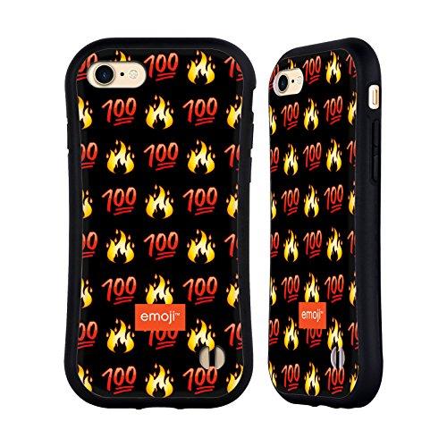 Ufficiale Emoji Unicorno Glitterato Tendenza Case Ibrida per Apple iPhone 7 Plus / 8 Plus 100
