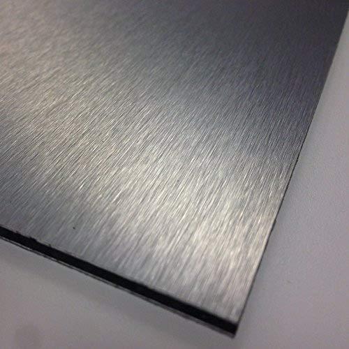 Sign Materials Direct, foglio composito in alluminio spazzolato argentato da 3 mm, 9 taglie a scelta 420mm x 297mm / A3 Silver