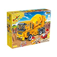Banbao Building Bricks Blocks 315 Piece Cement Mixer - Use With Leading Brands - Fun 3D Assembly Age 5+ Best Selling Children Boys Child - Wonderful Idea for Christmas Easter or Birthday Present Gift